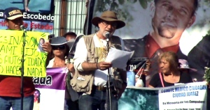 Javier Sicilia addresses crowds at a protest against the drug war