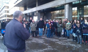 Library picket line teach-out, N30, from Alasdair Thompson